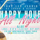 After Work HAPPY HOUR ALL NIGHT Jeudi 01 oct 2015