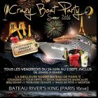 Crazy boat party (croisiere, fille=gratuit, deux ambiances, tour eiffel, bbq geant, mojitos, terrass - Rivers King - Paris