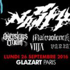 Soirée clubbing NASTY + AVERSIONS CROWN + MALEVOLENCE + VITJA + VARIALS	 Lundi 26 septembre 2016