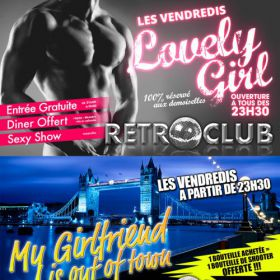 Soirée clubbing LOVELY GIRL / MY GIRLFRIEND IS OUT OF TOWN Vendredi 23 septembre 2016