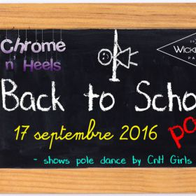 Before Back to School Party Samedi 17 septembre 2016