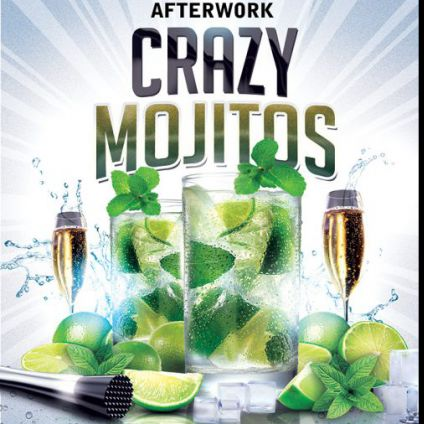 After Work OPENING CRAZY MOJITOS AFTERWORK (Mojitos, Bulles, Cocktail dinatoire 5 etoiles) Jeudi 13 octobre 2016
