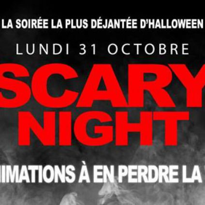 Soirée clubbing HALLOWEEN SCARY NIGHT Lundi 31 octobre 2016