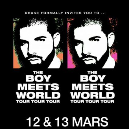 Concert DRAKE - THE BOY MEETS WORLD Lundi 13 mars 2017