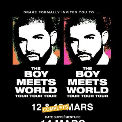 Concert DRAKE - THE BOY MEETS WORLD Mardi 14 mars 2017