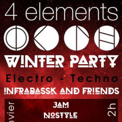 After Work Infrabassk Winter Party @ 4 elements Mercredi 25 janvier 2017