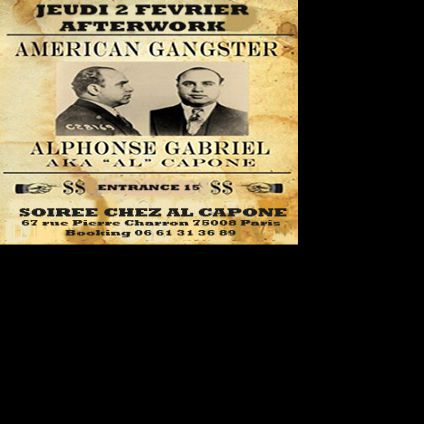After Work SOIREE AFTERWORK AL CAPONE Jeudi 16 fevrier 2017