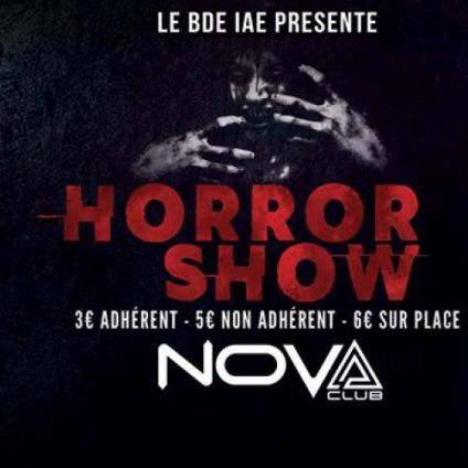 Soirée clubbing The last BDE party : Horror Show Jeudi 20 avril 2017
