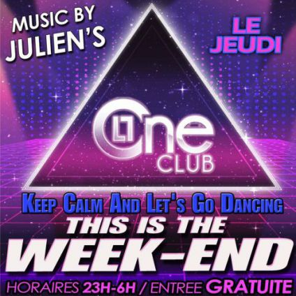 Soirée clubbing THIS IS THE WEEKEND ! by Le ONE Club Bastia Jeudi 20 juillet 2017