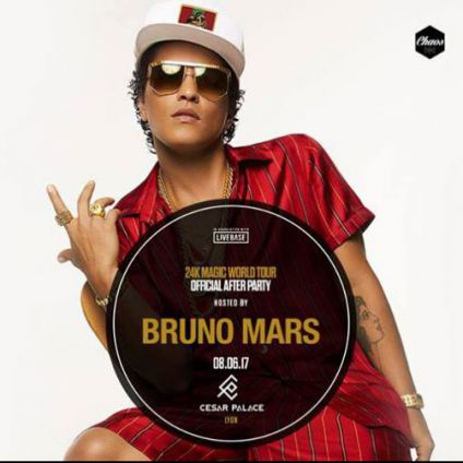 Soirée clubbing 24k Magic After party hosted by Bruno Mars Jeudi 08 juin 2017
