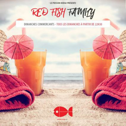 Red fish family Poisson rouge club