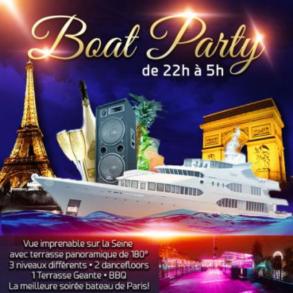 Paris boat party (fille > gratuit, 2 ambiances club, terrasse couverte, mojitos...) Concorde atlantique