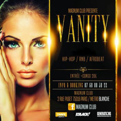 Soirée clubbing Vanity Friday - Welcome to Paris Vendredi 19 janvier 2018