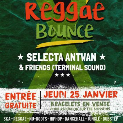 Before Thursday reggae bounce #3 - Selecta antwan & Friends Jeudi 25 janvier 2018