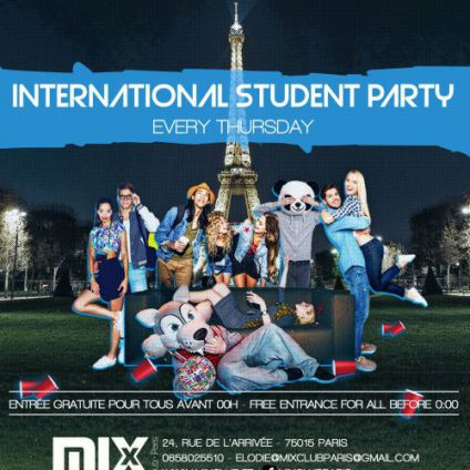 International student party Mix club