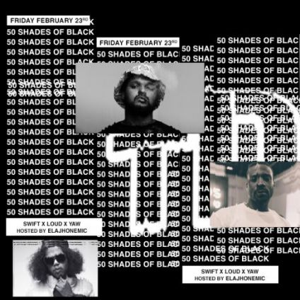 50 shades of black music - hip hop party Flow