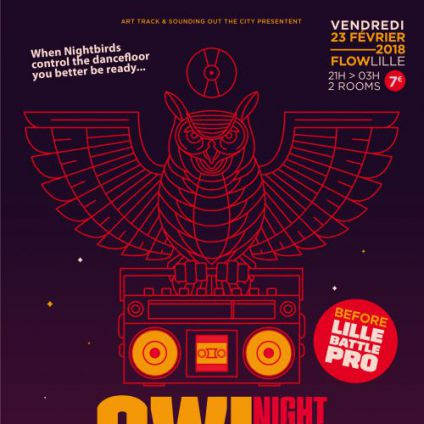 Night owl party (before lille battle pro) Flow, centre eurorégional des cultures urbaines