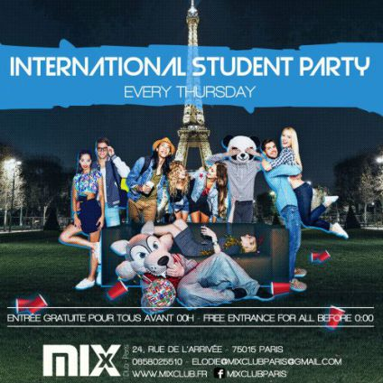 Soirée étudiante INTERNATIONAL STUDENT PARTY Jeudi 22 mars 2018