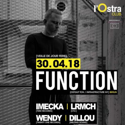 Autre MELTING SOUND present FUNCTION (Ostgut Ton_USA) Lundi 30 avril 2018