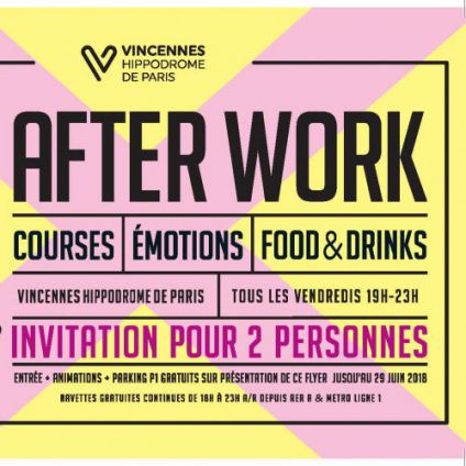 After Work AFTER WORK // EXPÉRIENCE COURSES // Vendredi 11 mai 2018