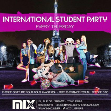 Soirée étudiante INTERNATIONAL STUDENT PARTY Jeudi 19 avril 2018