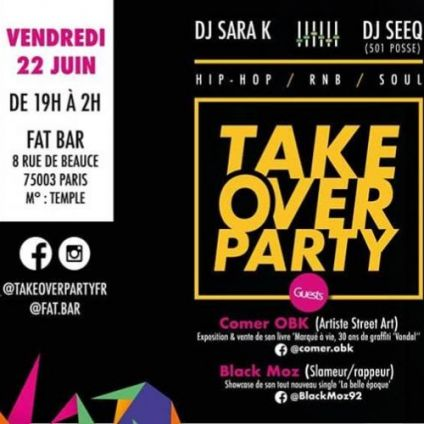 After Work TAKE OVER PARTY Vendredi 22 juin 2018