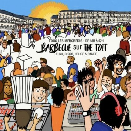 After Work THE TOIT - ROOFTOP, TERRASSE 1000m2, BARBECUE, CLUB INTERIEUR Mercredi 20 juin 2018