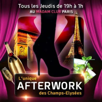 After Work AFTERWORK MOJITO @ MADAM CLUB CHAMPS ELYSÉES  Jeudi 18 octobre 2018