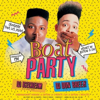 After Work BOAT PARTY Jeudi 20 septembre 2018