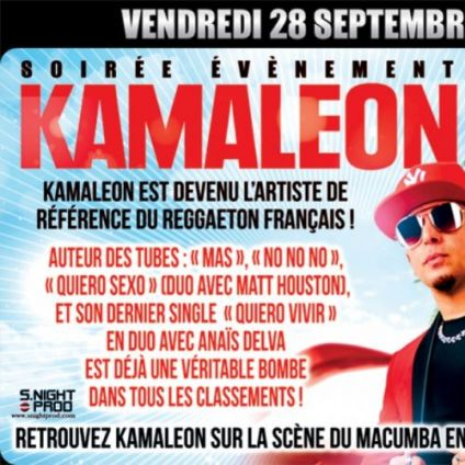 Concert Kamaleon en Showcase  Vendredi 28 septembre 2018