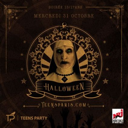Soirée clubbing Teens Party Paris - Halloween 2018 (13-17ans) Mercredi 31 octobre 2018