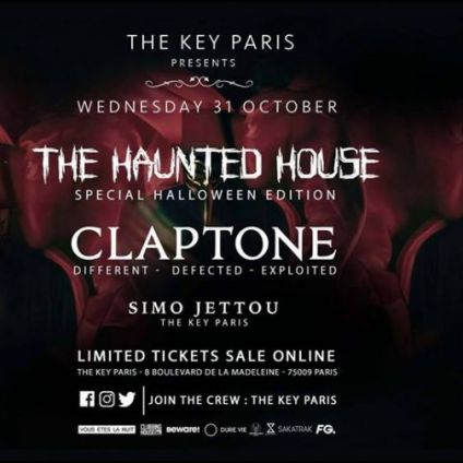 Soirée clubbing The Haunted House with Claptone Mercredi 31 octobre 2018
