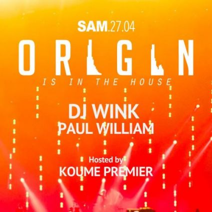Soirée clubbing Origin Party : deep & house music Samedi 27 avril 2019