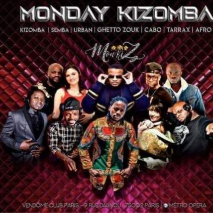 After Work Monday Kizomba Vendôme Club Paris Lundi 17 juin 2019