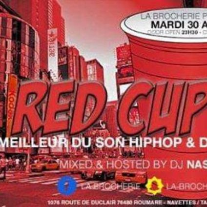 Soirée clubbing RED CUP PARTY Mardi 30 avril 2019