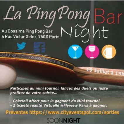 After Work La pingPong I Bar Night Vendredi 19 juillet 2019