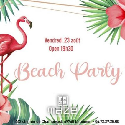 After Work  BEACH PARTY Vendredi 23 aout 2019