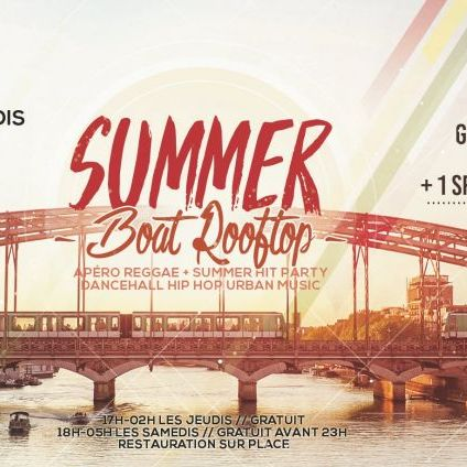 Soirée clubbing Jamaican Party Summer boat Edition Samedi 24 aout 2019