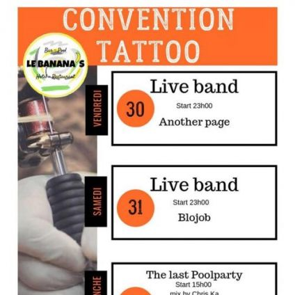 Concert Convention Tatoo Le Banana's le groupe another page Vendredi 30 aout 2019