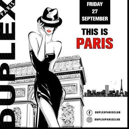 Soirée clubbing THIS IS PARIS Vendredi 27 septembre 2019