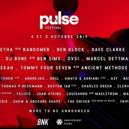 Festival Pulse Festival 2019 Vendredi 04 octobre 2019