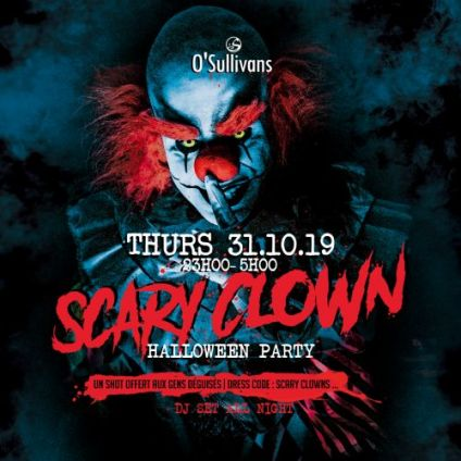 Soirée clubbing SCARY CLOWNS ll Halloween Party 2k19 by OSGB Jeudi 31 octobre 2019