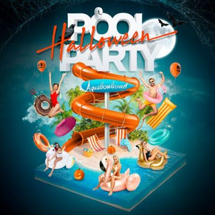Soirée clubbing AQUABOULEVARD HALLOWEEN POOL PARTY (2500 Clubbers : La + Grosse POOL PARTY au Monde) Jeudi 31 octobre 2019