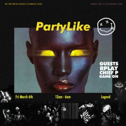 Soirée clubbing Party Like - Hip hop party au Dandy Vendredi 06 mars 2020