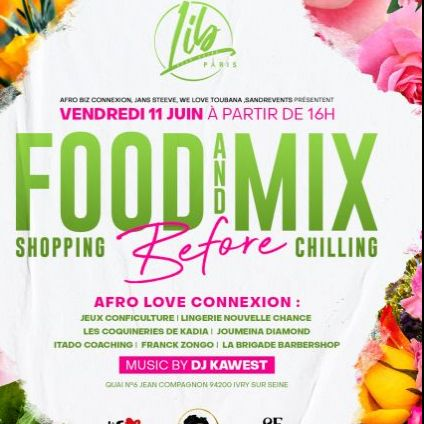 After Work Food and mix Party  Vendredi 11 juin 2021