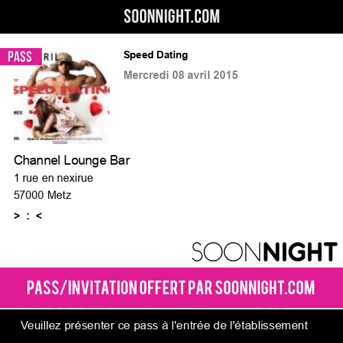 Soiree speed dating metz speed dating geneva, there are supper clubs, try the right place.